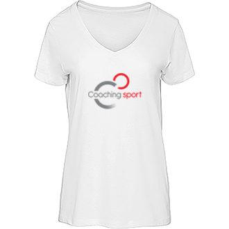 t-shirt - organic - col - V - femme - coaching - sport - france