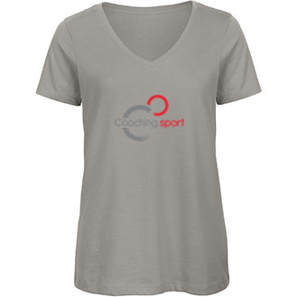 t-shirt - organic - col - V - femme - coaching - sport - france