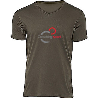 t-shirt - organic - col - V - homme - coaching - sport - france