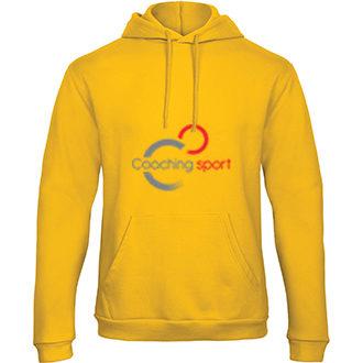 Sweatshirt-à-capuche-jaune